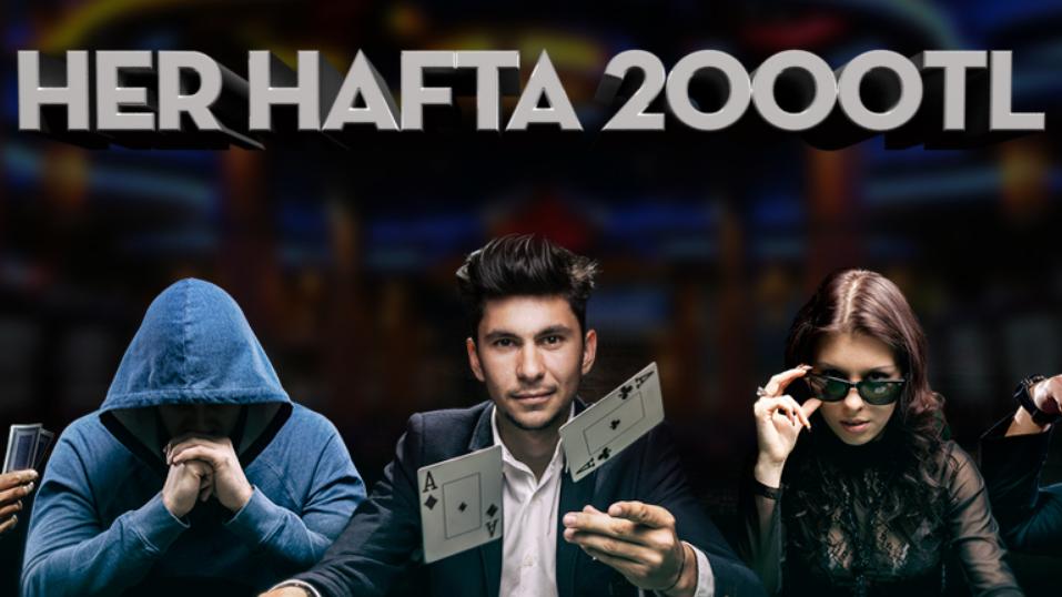 Haftalık Poker Turnuvası Hemde 2000 TL Nakit Ödüllü