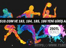 182Bets10.com ve 183, 184, 185, 186 Yeni Giriş Adresleri